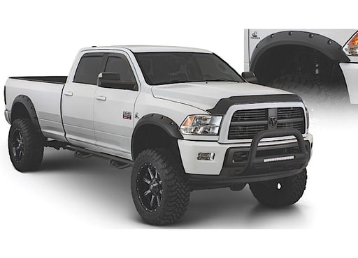 Bushwacker Fenders 4pc 10-17 RAM 2500/3500 76.3IN/98.3IN BED/DUALLY COMPATIBLE FF MAX POCKET STYLE 4PC Fender Flare Location: