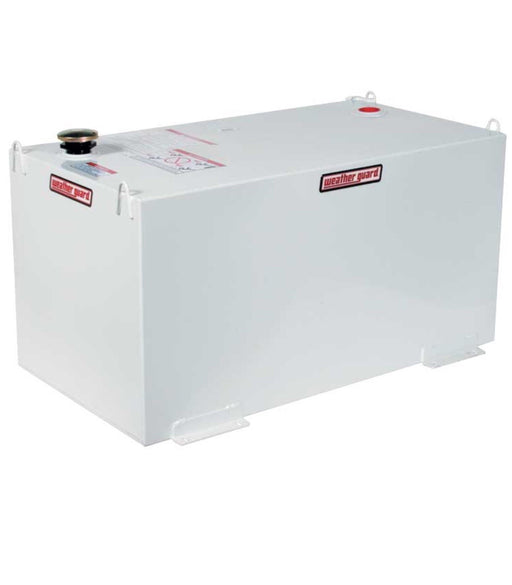 100 Gal White Steel Rectangular Transfer Tank Name:	Weather Guard Steel Rectangular Fuel Transfer Tank