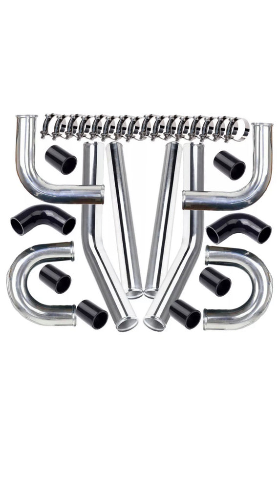 "3"" Universal 76mm Polished Aluminum Intercooler Pipe kit"