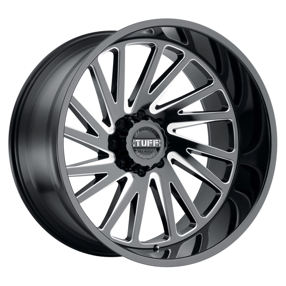 4-Tuff T2A Wheel 24x14 8x170 Black Milled -72 MM