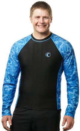 Mens AD-602 Long Sleeve Rashguard | Aqua Design
