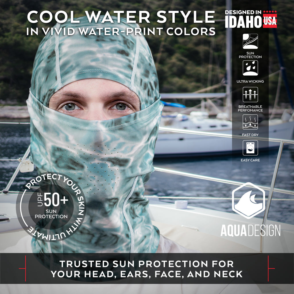 Aqua Design UPF 50+ Sun Protective Balaclava for Men