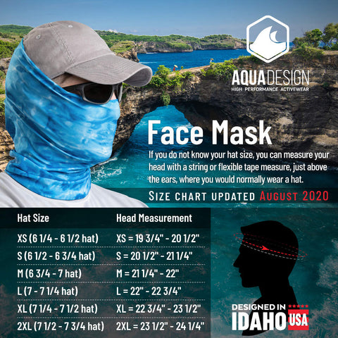 Face Mask and Hat Size Chart