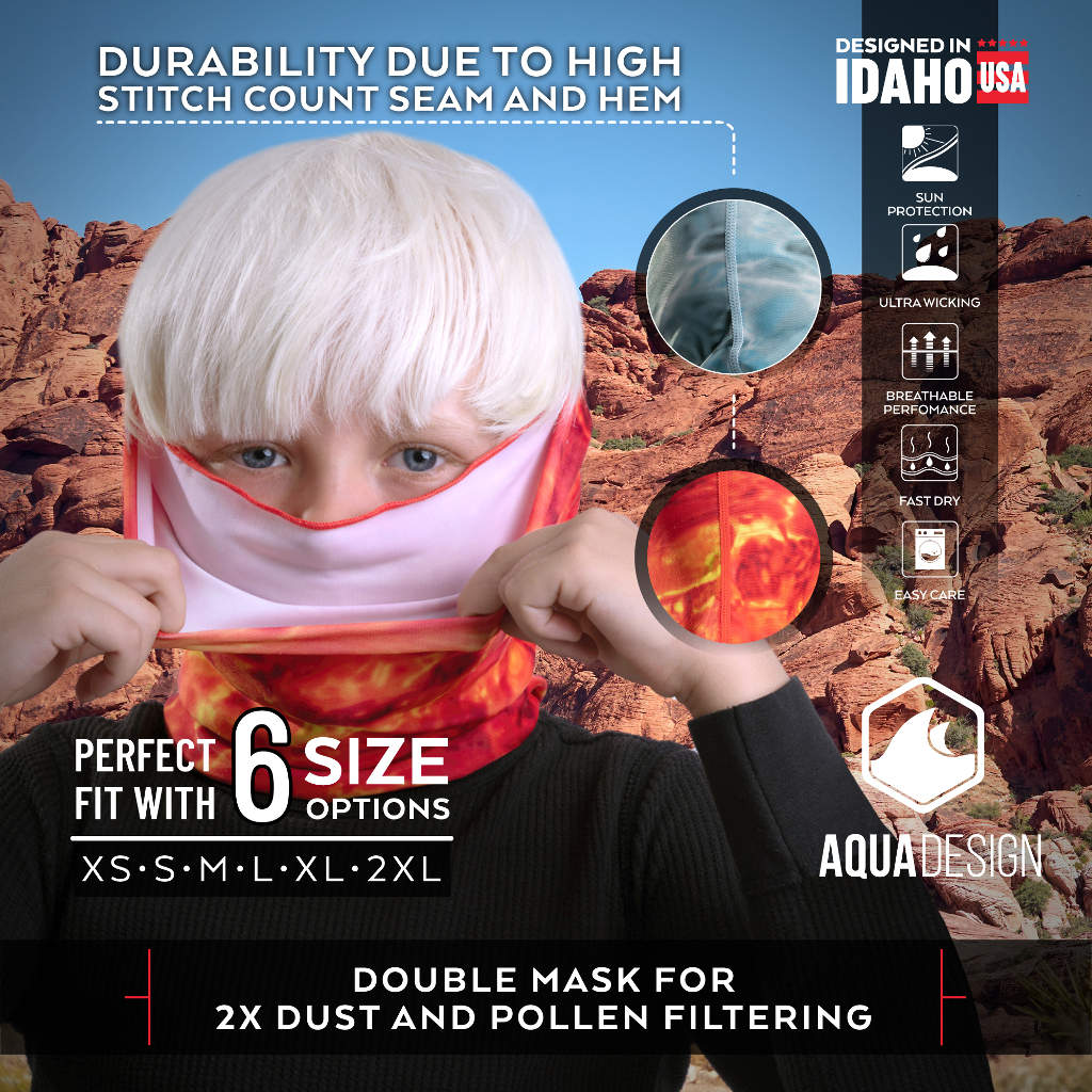 Kids Face Mask in 6 Sizes from Aqua Design
