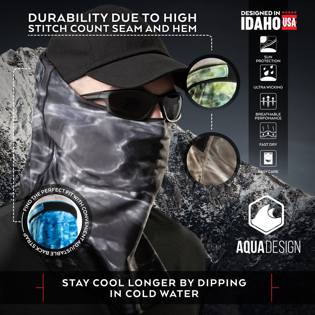 Aqua Design Adjustable Face Mask One Size Fits Most