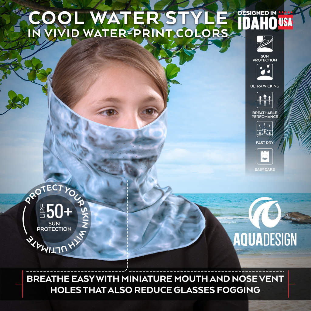 Kids UV Face Mask ProMax Sun Protection Vented | Aqua Design