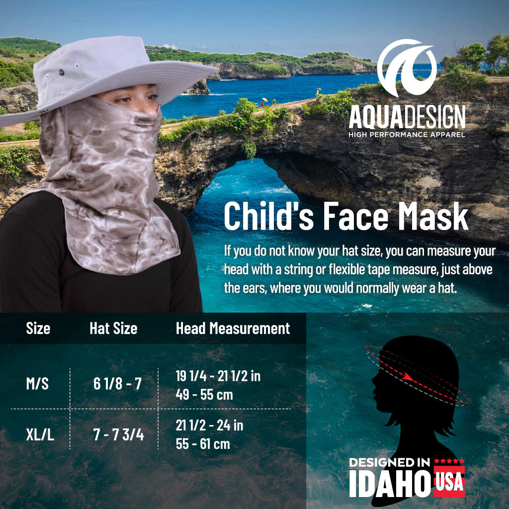 Kids  ProMax UV Vented Adjustable Face Mask | Aqua Design