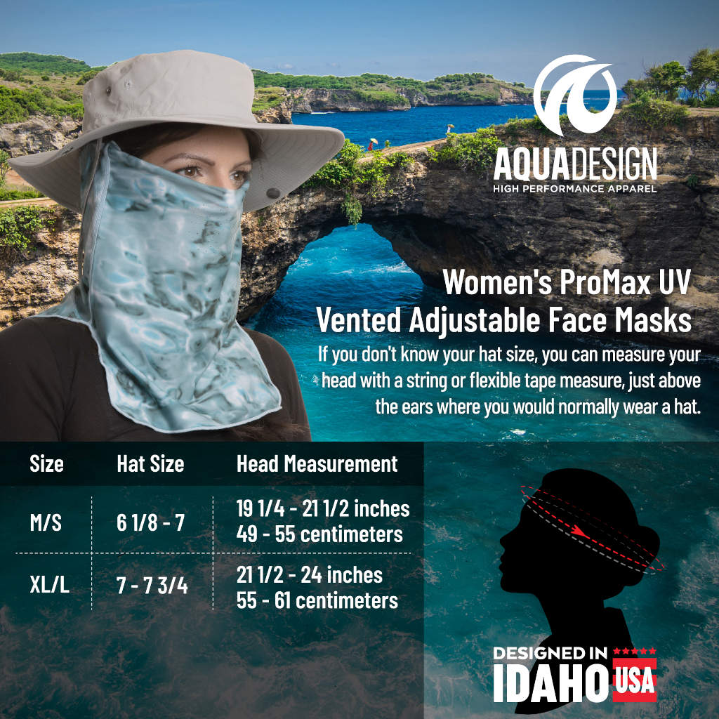 WOMENS PROMAX UV VENTED ADJUSTABLE FACE MASK | AQUA DESIGN