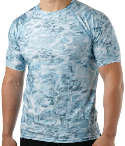Men Rash Guard Swim Shirt Aqua Design