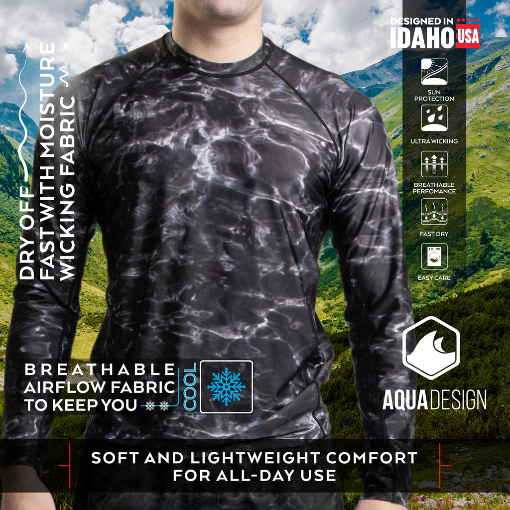 Aqua Design Men's Quick Dry Wicking Rash Guard