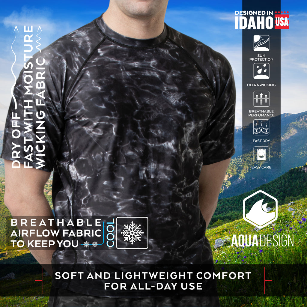 Aqua Design Men's Cool Airflow Rash Guard