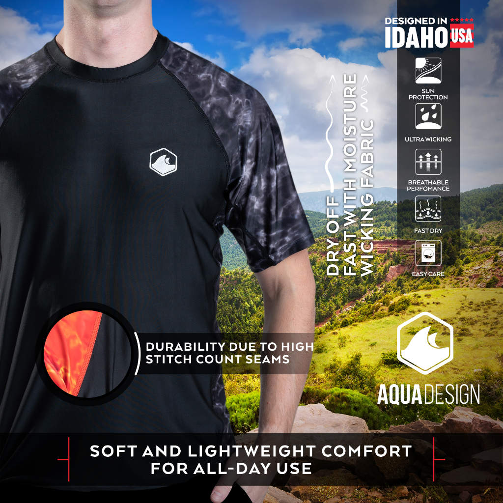 Mens' Short Sleeve Rash Guard