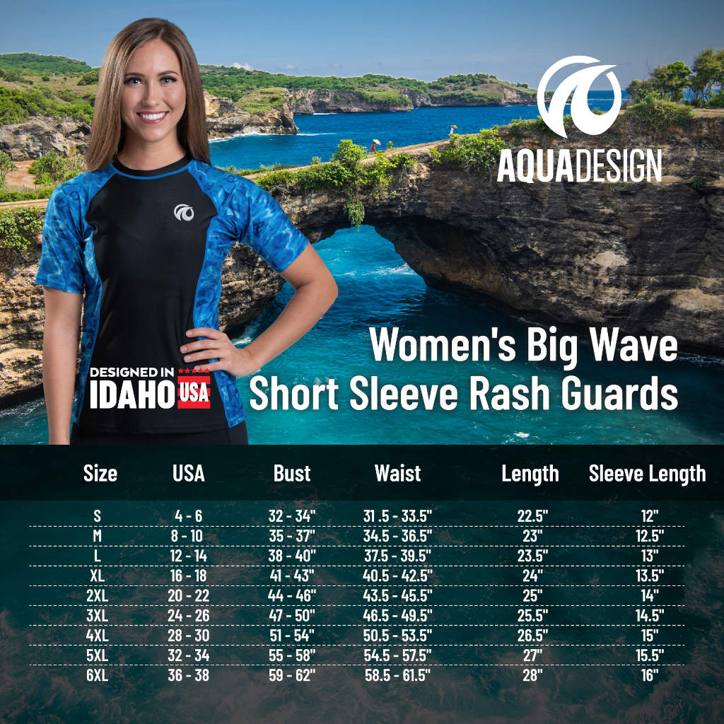WOMENS RASH GUARD SHORT SLEEVE SURF SHIRT