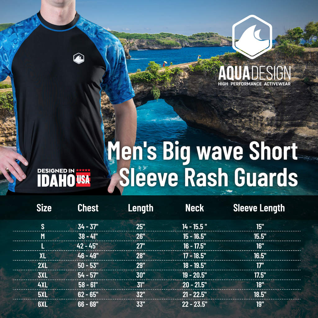 Mens Short Sleeve Rash Guard