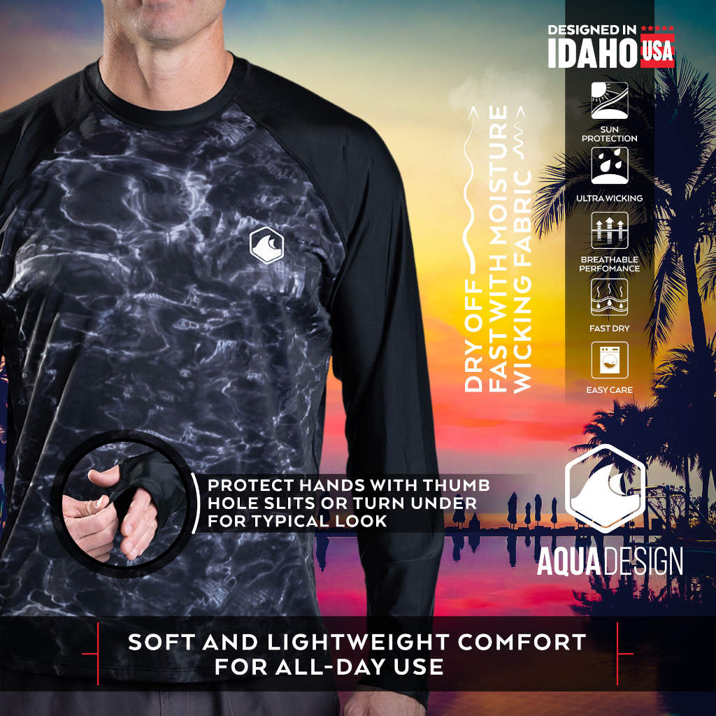 Mens Long Sleeve Rash Guard Shirt