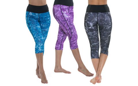 Women's 3D Water Print Leggings by Aqua Design