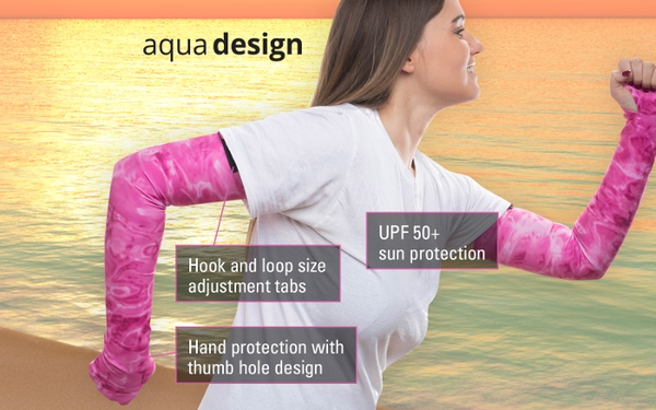 Womens Arm and Hand Sun Protective Sleeves