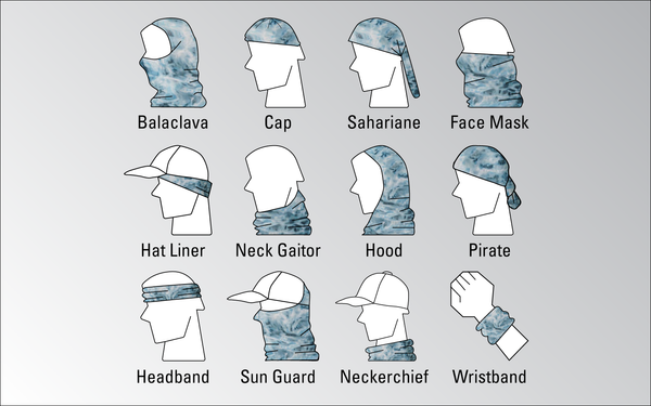 Ways To Wear Men's Sun Protection Fishing Face Mask