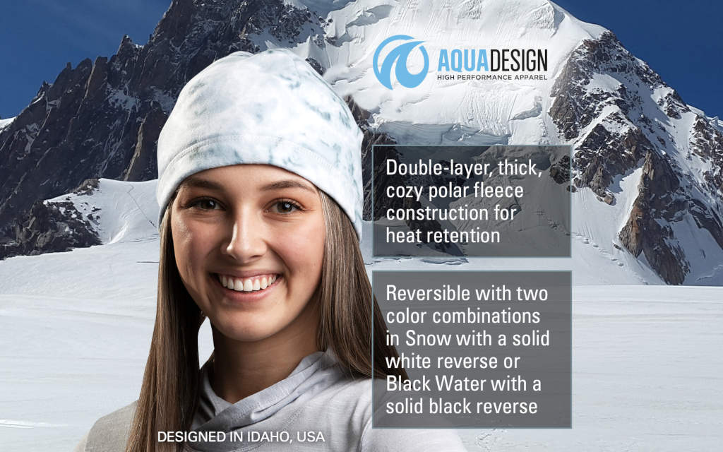 WOMENS REVERSIBLE POLAR FLEECE WINTER HAT