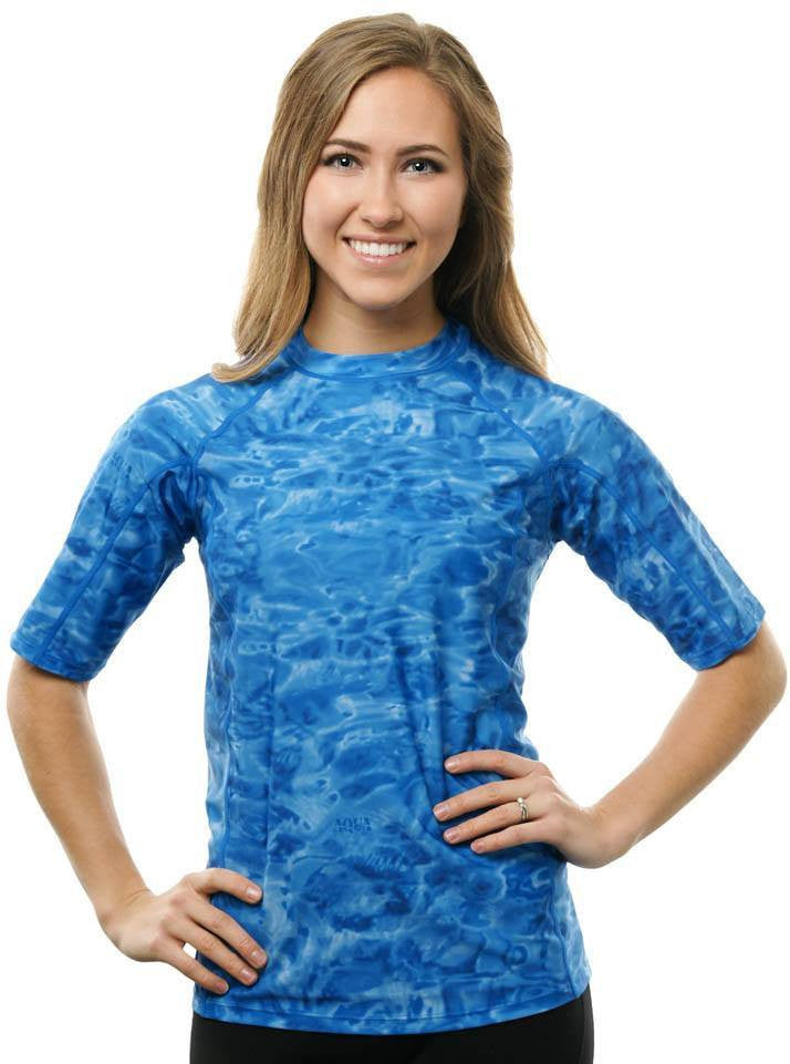 367a90fa35d8b Womens Misses to Plus Rash Guard Swim Shirt