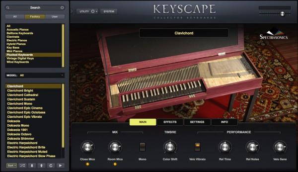 Interface Spectrasonics Keyscape