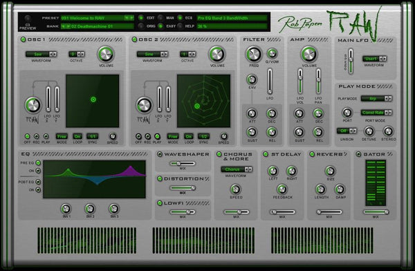 Review Rob Papen Raw
