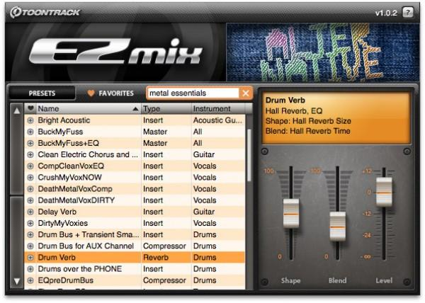 Buy Toontrack EZmix 2 Alternative Rock Presets