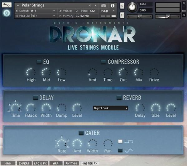 Gothic Instruments DRONAR Live Strings EDUCATION