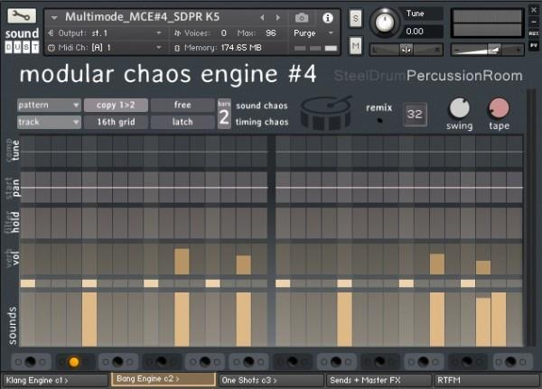 Review Sound Dust Modular Chaos Engine 4 Steel Drum Percussion Room
