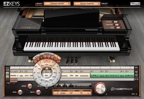 Interface Toontrack EZkeys Grand Piano