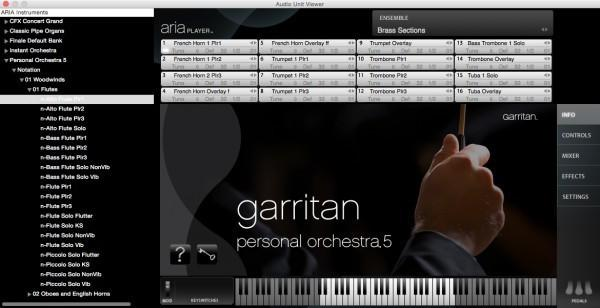 Interface Garritan Personal Orchestra 5