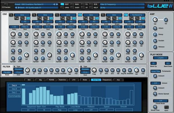 Interface Rob Papen Blue II