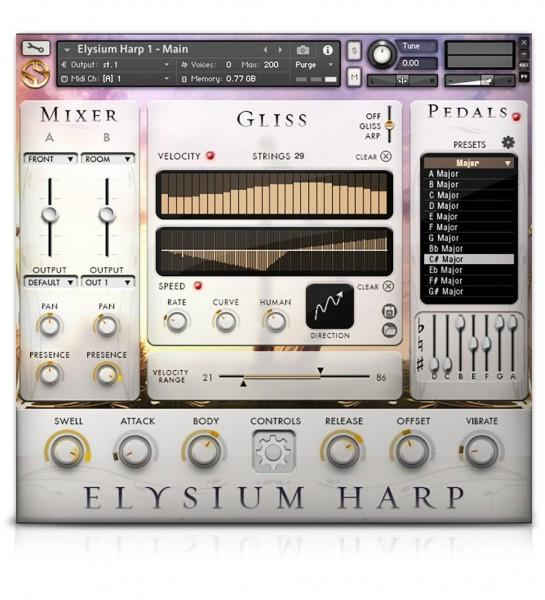 Interface Soundiron Elysium Harp