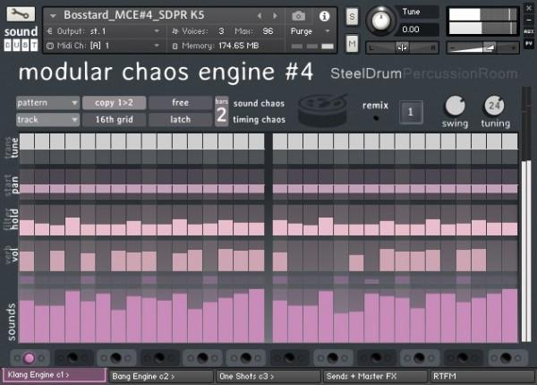 Interface Sound Dust Modular Chaos Engine 4 Steel Drum Percussion Room