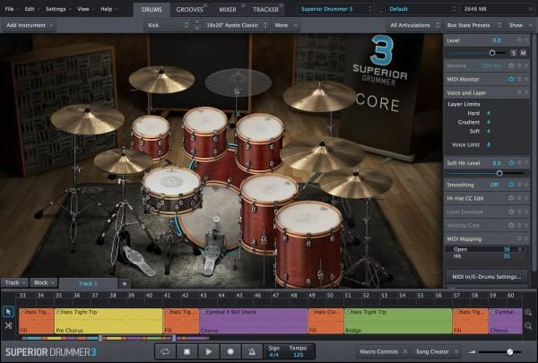 Interface Toontrack Superior Drummer 3