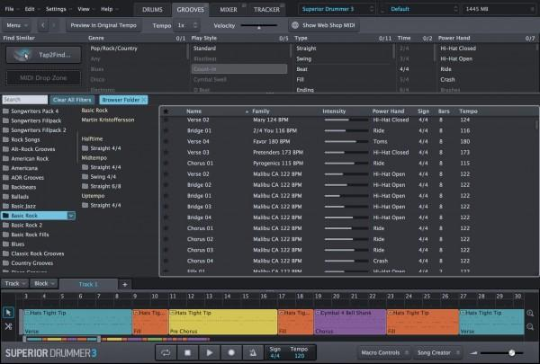 Virtual instrument Toontrack Superior Drummer 3
