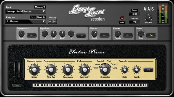 AAS Lounge Lizard Session GUI