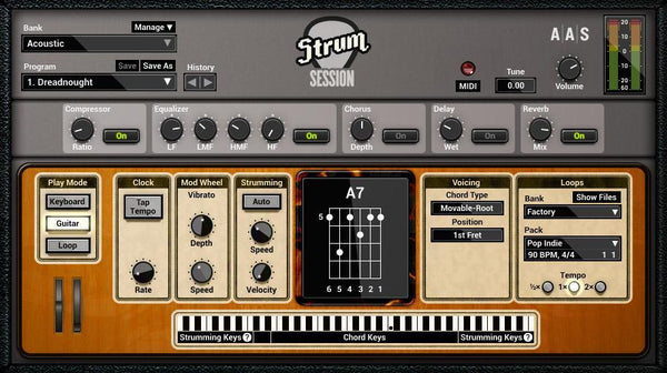 AAS Strum Session GUI