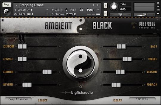 Big Fish Audio Ambient Black Lower Bundle Price Dark Distorted Gritty Ambient Kontakt Virtual Instrument