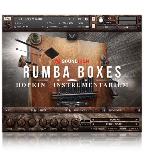 Soundiron Hopkin Instrumentation: Rumba Boxes