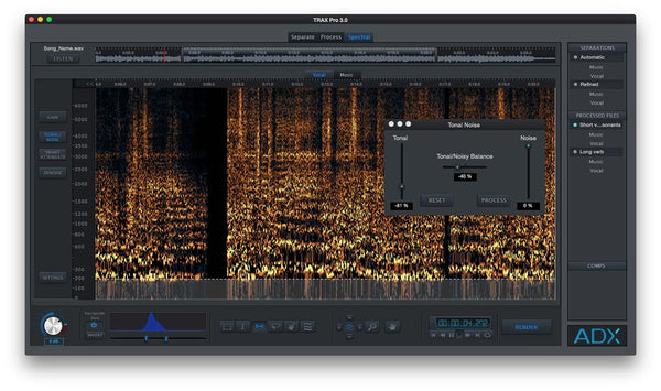 Audionamix TRAX PRO 3 Tonal Noise Filter Screenshot