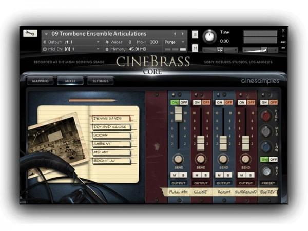 Review CineSamples CineBrass CORE