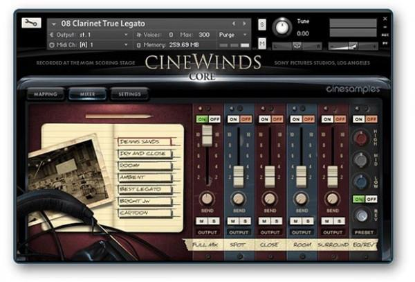 Install CineSamples CineWinds CORE