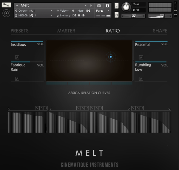 Cinematique Instruments Melt GUI 1
