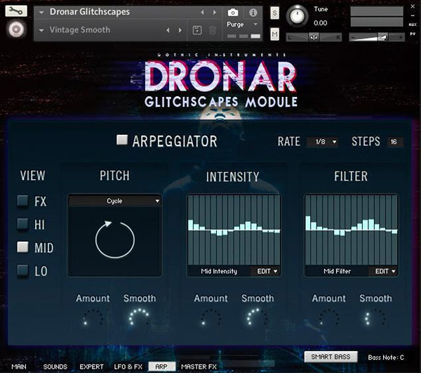 Gothic Instruments DRONAR Master FX Page