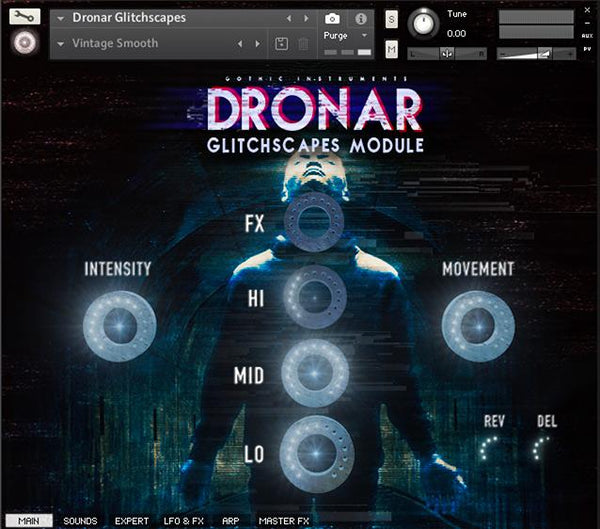 DRONAR Glitchscapes Module main interface