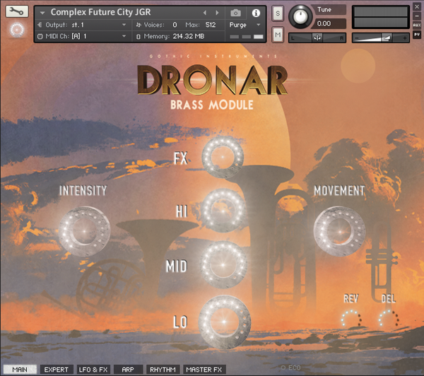 Gothic Instruments DRONAR Brass Main page