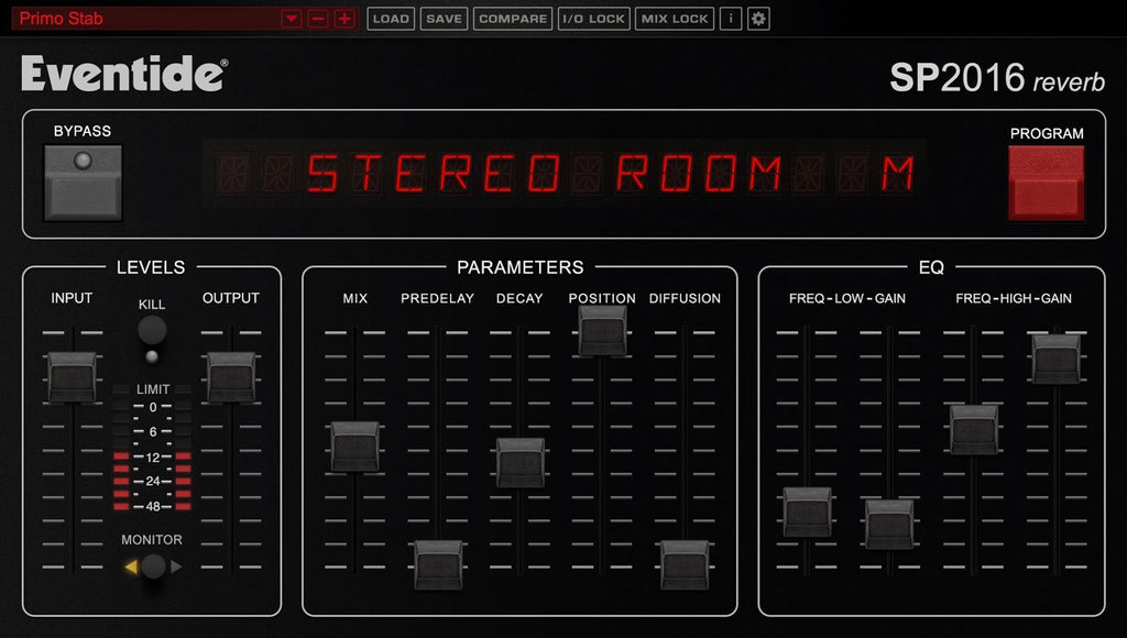 Eventide SP2016 Reverb GUI