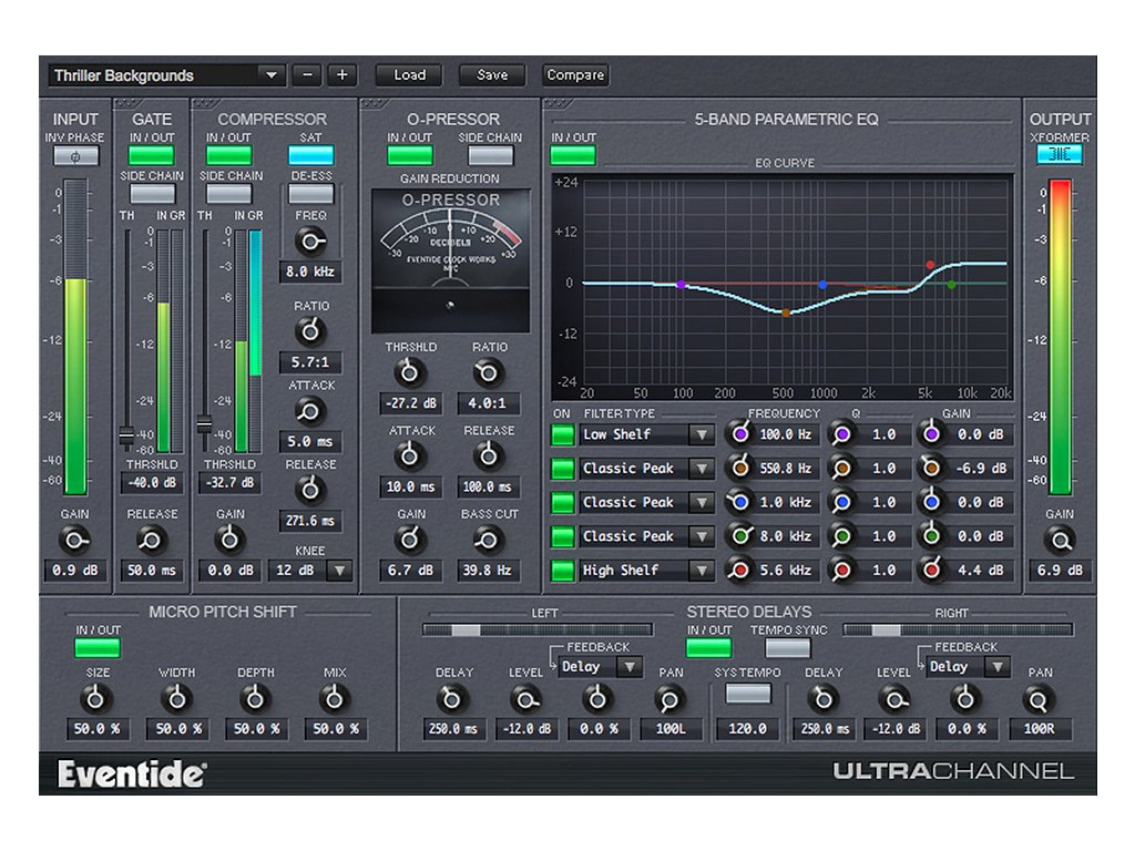 Eventide UltraChannel GUI