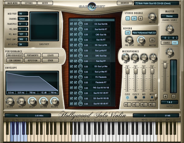 Virtual Instrument EastWest Hollywood Solo Series Bundle